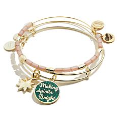 "Alex and Ani Words are Powerful ""Spirits Bright"" 2-piece Bangle Set"