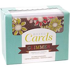 American Crafts Boxed Cards - Glimmer