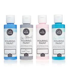 American Crafts Color Pour Pre-Mixed Pouring Paints 4-pack