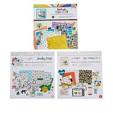 American Crafts Project Set of 3 Paper Pad Bundles