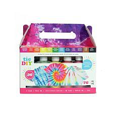 American Crafts Tie DIY Kits 12 Bright 4oz. Colors, 76 pieces