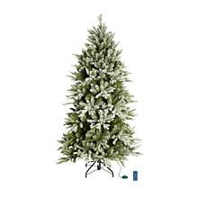 American Tree & Wreath 9' Color-Changing Flocked Starry Alpine Tree