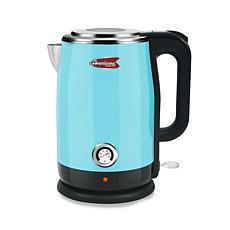 Americana 1.8-Quart Blue Cool Touch Stainless Steel Electric Kettle
