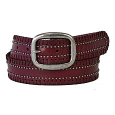 Amsterdam Heritage Malon Studded Wine Leather Belt