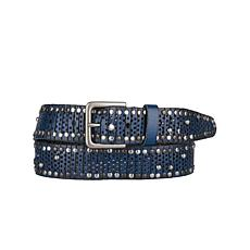 Amsterdam Heritage Max Studded Mesh Leather Belt