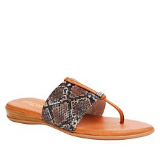 André Assous Nice Elastic Stretch Flat Thong Sandal