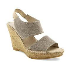 """Andre Assous """"Reese"""" Leather Platform Espadrille Wedge"""