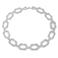 Andrew Prince 28.86ctw CZ Oval Halo Chain