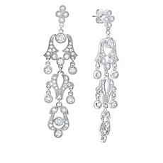 Andrew Prince 3.24ctw Cubic Zirconia Scroll Drop Earrings