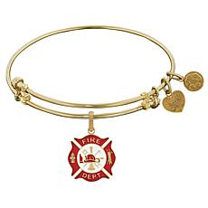 Angelica Fire Department Dangle Wire Expansion Bangle Bracelet