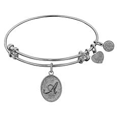 Angelica Initial Dangle Wire Expansion Bangle Bracelet