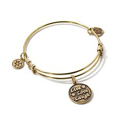 "Angelica ""Live, Love, Laugh"" Charm Slide-Clasp Bracelet"