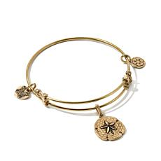Angelica Sand Dollar Charm Slide-Clasp Bangle Bracelet