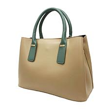 Anna Cai Faux Leather Top Handle Shoulder Tote