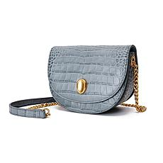 Anna Cai Genuine Leather Croco Skin Crossbody