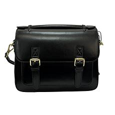 Anna Cai Real Leather Buckle Messenger Crossbody