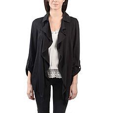 Anna Cai Ruffle Front Jacket