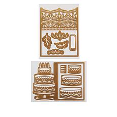 Anna Griffin® Cake & Damask Jacket Card Dies