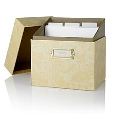 Anna Griffin® Embossing Folder Storage Box - Ivory Damask