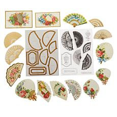 Anna Griffin® Fan Stamps, Dies and Embellishments