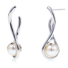 "Anne Geddes ""Wonder"" White Cultured Pearl Drop Earrings"