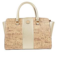 Anne Klein Cork Winged Satchel with Crossbody Strap