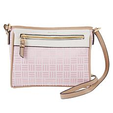 Anne Klein Jacquard Lion Logo Crossbody Bag