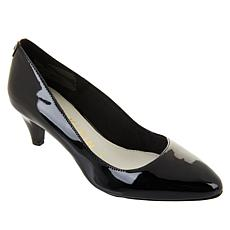 Anne Klein Rosalie Leather Almond-Toe Pump