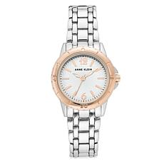 Anne Klein Women's Rosetone and Silvertone Bracelet Watch