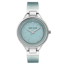 Anne Klein Women's Shimmering Mint Semi-Bangle Bracelet Watch