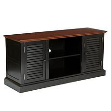 Antebellum Media Stand - Black/Walnut