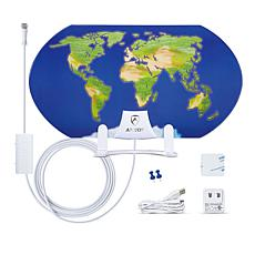 ANTOP AT-122B 3D Map 55-Mile Range HDTV Antenna w/Smartpass Amplifier