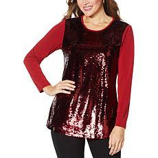 "Antthony ""All That Glitters"" 2-Tone Sequin Top"
