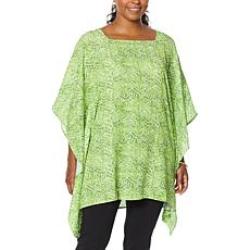 Antthony Asymmetric Square-Neck Printed Caftan
