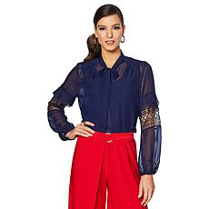 """Antthony """"Elda Collection"""" 2-piece Chiffon Blouse and Tank Set"""