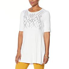 Antthony Embellished Elbow-Sleeve Tunic