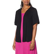 Antthony Jersey Knit Elbow-Sleeve Cardigan