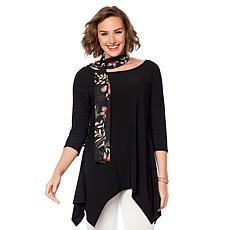 """Antthony """"Jewel of the Nile"""" 2-pack Tees with Scarf"""