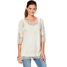 """Antthony """"Knockout"""" Crochet Tunic with Tank"""