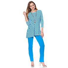 "Antthony ""Nantucket"" Striped Top and Skinny Pant Set"