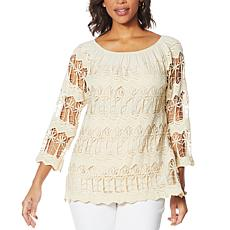Antthony Off-the-Shoulder Crochet Lace Top