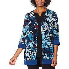 Antthony Printed Chiffon Combo Jacket