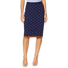 """Antthony """"Spectator Collection"""" Knit Jacquard Skirt"""