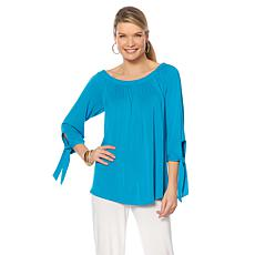 """Antthony """"Style Revival"""" Off-the-Shoulder Tie-Sleeve Top"""