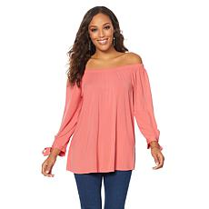 "Antthony ""Style Revival"" Off-the-Shoulder Tie-Sleeve Top"