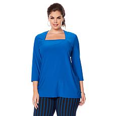 """Antthony """"Timeless Textures"""" Square-Neck Top"""