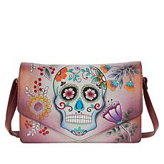 Anuschka Hand-Painted Leather Flap Crossbody
