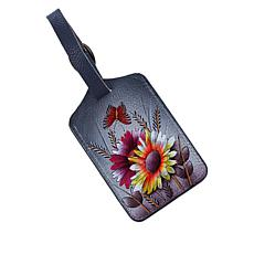 Anuschka Hand Painted Leather Luggage Tag