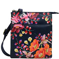 Anuschka Hand-Painted Leather RFID-Blocking Crossbody Organizer