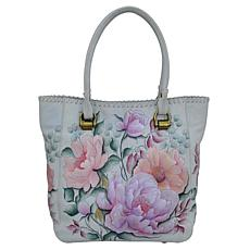 Anuschka Hand Painted Leather Tall Tote with Double Handle
